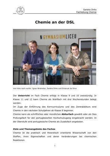 Chemie an der DSL - Deutsche Schule Lissabon