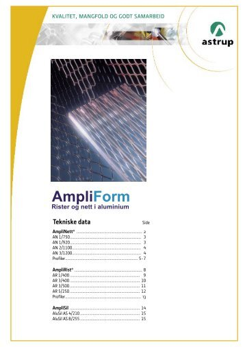 Tekniske data - Astrup AS