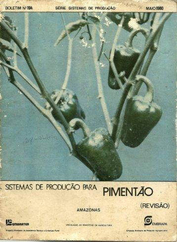 sisTEMAs DE PRODUÇÃO BÁRÁ P'MENTÃQ ~ - Embrapa
