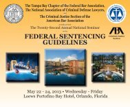 FEDERAL SENTENCING GUIDELINES - NACDL