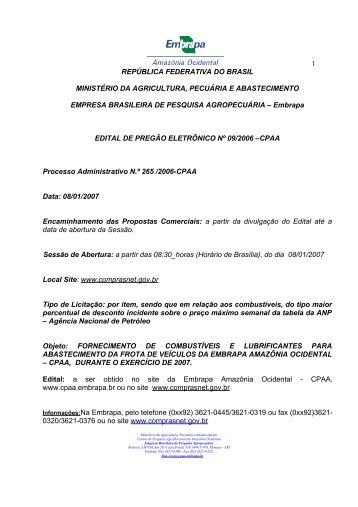 PREGÃO COMBUSTIVEL 2007.pdf - Embrapa