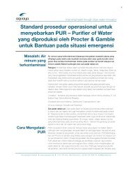 Standard prosedur operasional untuk menyebarkan PUR ... - Aquaya