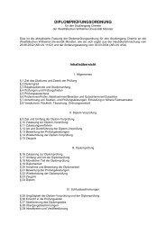 Diplomprüfungsordnung für den Studiengang Chemie der ... - ZSB