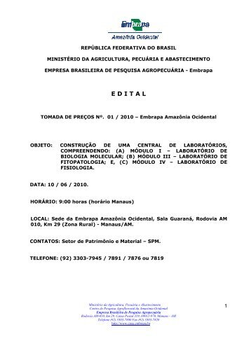 EDITAL TOMADA DE PREÇOS 01 2010.pdf - Embrapa
