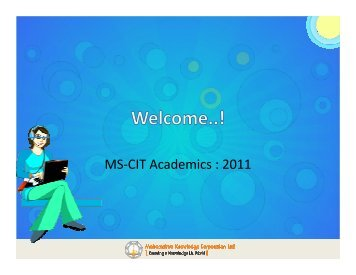 1. Academic and Examination System for year 2011 - MKCL
