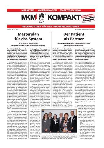 Masterplan für das System Der Patient als Partner - MKM Marketing ...