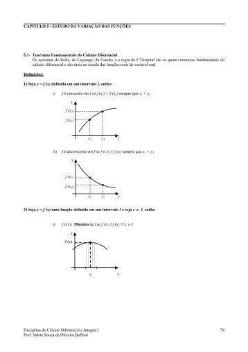 Teorema de Cauchy - Professores da UFF