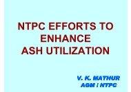 NTPC EFFORTS TO ENHANCE ASH UTILIZATION - APGENCO