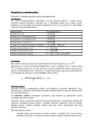 Přednáška č. 2 – náhodné veličiny Poznámky k základním pojmům z ...