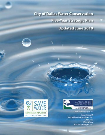 Five-Year Strategic Plan - Save Dallas Water