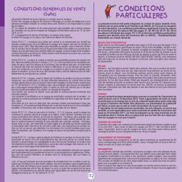 CONDITIONS PARTICULIERES CONDITIONS ... - Nacel
