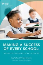 Vallas Report - Woodrow Wilson International Center for Scholars