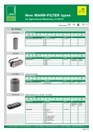 New MANN-FILTER types for Agricultural ... - Mann & Hummel
