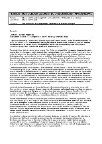 la Pétition en format PDF - Label STEP
