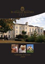 Calendar of Events 2009 - Corus Hotels