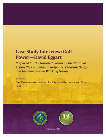 Gulf Power—David Eggart - Electricity Market and Policy - Lawrence ...