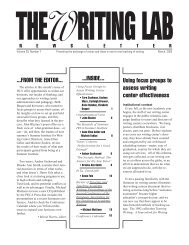 29.7 - The Writing Lab Newsletter