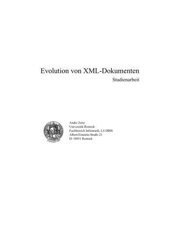 Evolution von XML-Dokumenten - Schema Evolution