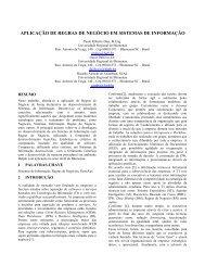 aplicação de regras de negócio em sistemas de informação