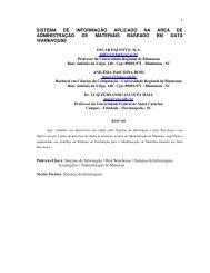SISTEMA DE INFORMAÇÃO APLICADO NA ... - Projeto Pesquisa