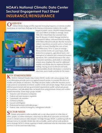 INSURANCE/REINSURANCE - National Climatic Data Center - NOAA