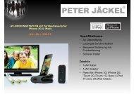 Spezifikationen: • AV Übermittlung • Ladung ... - Peter Jäckel