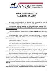 regulamento geral de vaquejada da anqm - Portal Do Equino