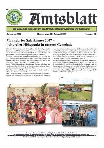 Mohlsdorfer Salatkirmes 2007 – kultureller Höhepunkt in unserer ...