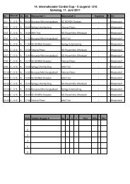 Cordial Cup 2011 - Spielplan U15