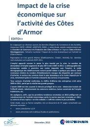 Impact de la crise économique sur l'activité des Côtes d ... - CAD22