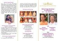 Kriya Yoga Europa Kriya Yoga Seminar in München 07. – 09. Juni ...