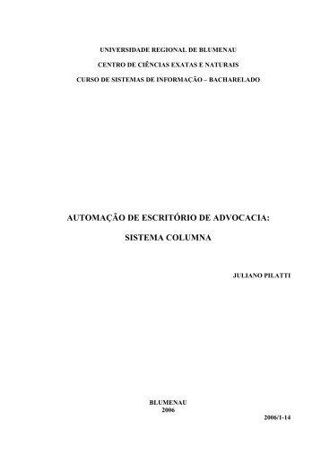automação de escritório de advocacia: sistema ... - Projeto Pesquisa