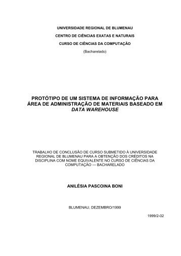 TCC - ANILESIA - Projeto Pesquisa - Furb
