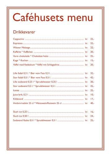 Caféhusets menu - Middelaldercentret