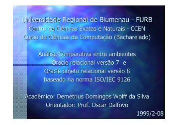 Universidade Regional de Blumenau - FURB