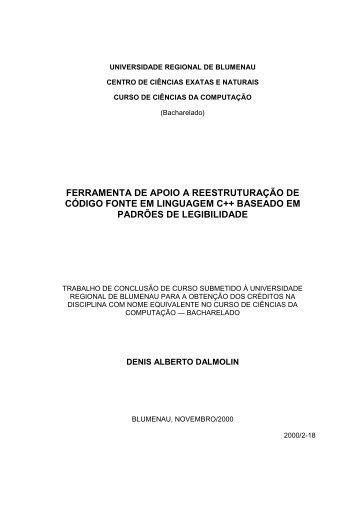 FERRAMENTA DE APOIO A ... - Projeto Pesquisa