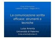 37. Comunicazione scritta efficace_sintesi - Università di Palermo