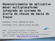 Desenvolvimento de aplicativo móvel ... - Projeto Pesquisa