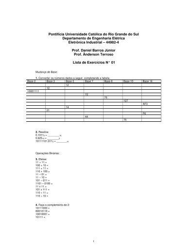 Lista de Exercícios 1 - GSE