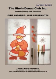 December 2012 / January 2013 (PDF) - Rhein Donau Club - iiNet