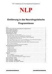 NLP Einführung in das Neurolinguistische Programmieren