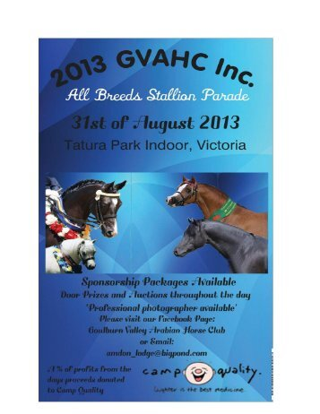 GVAHC All Breeds Stallion Parade flyer - Commonwealth ...