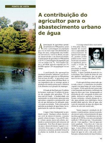 A contribuição do agricultor para o abastecimento urbano de ... - Daep