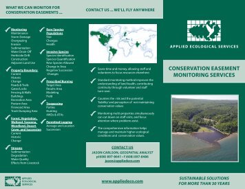 conservation easement monitoring services - Applied Ecological ...