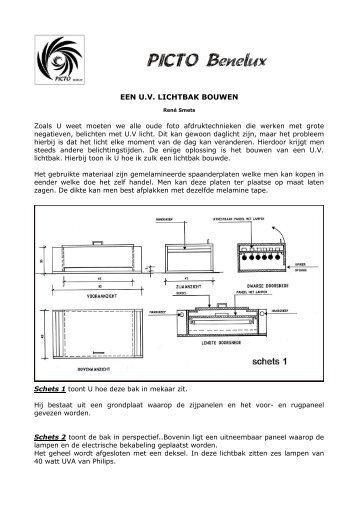 Een U.V. lichtbak bouwen - René Smets - Picto Benelux