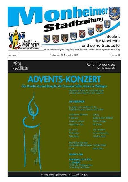 Stadtzeitung 2011-11-18.pdf - Stadt Monheim