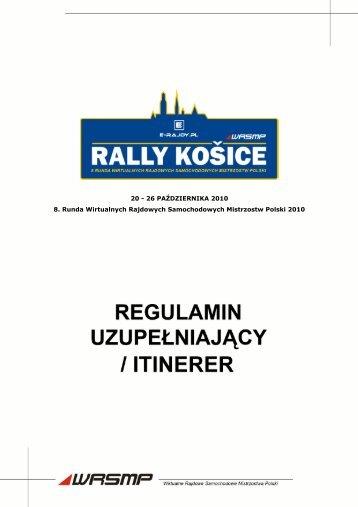 Itinerer / regulamin uzupełniający - E-RAJDY.PL