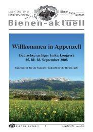 Bienen-aktuell Nr. 54 - Liechtensteiner Imkerverein