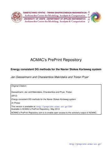 Download (1839Kb) - ACMAC's PrePrint Repository