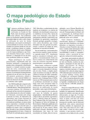 O mapa pedológico do Estado de São Paulo - IAC
